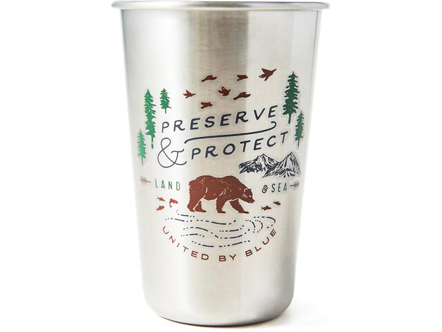 United By Blue Preserve & Protect - Gourde - 473ml argent